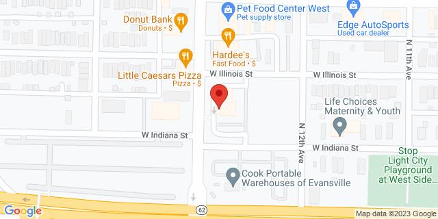 Fifth Third Bank Evansville 2320 W. ILLINOIS STREET 47712 on Map