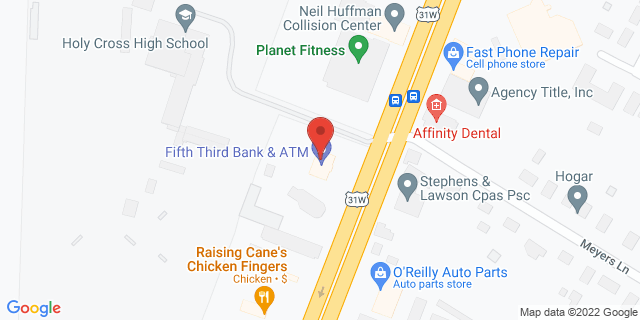 Fifth Third Bank Louisville 5200 DIXIE HIGHWAY 40216 on Map