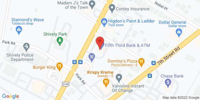 Fifth Third Bank Louisville 3901 DIXIE HIGHWAY 40216 on Map