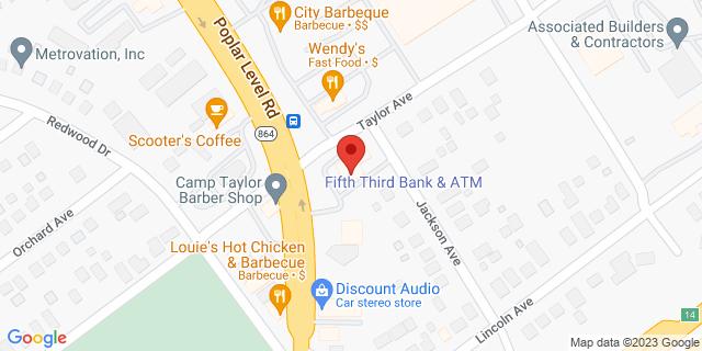 Fifth Third Bank Louisville 4201 POPLAR LEVEL RD. 40213 on Map