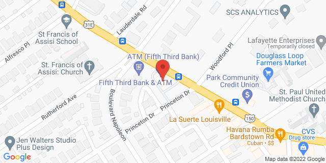 Fifth Third Bank Louisville 2000 BARDSTOWN ROAD 40205 on Map