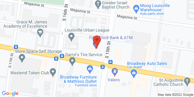 Fifth Third Bank Louisville 1501 WEST BROADWAY 40203 on Map