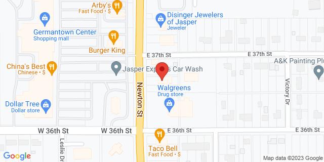 Fifth Third Bank Jasper 3650 N. NEWTON 47546 on Map