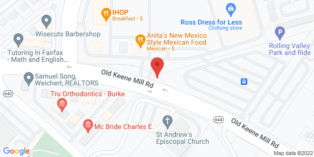 M&T Bank Burke 9274 Old Keene Mill Rd 22015 on Map