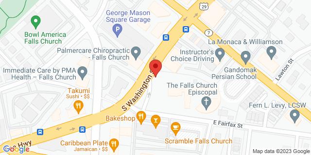 M&T Bank Falls Church 133 S Washington St 22046 on Map