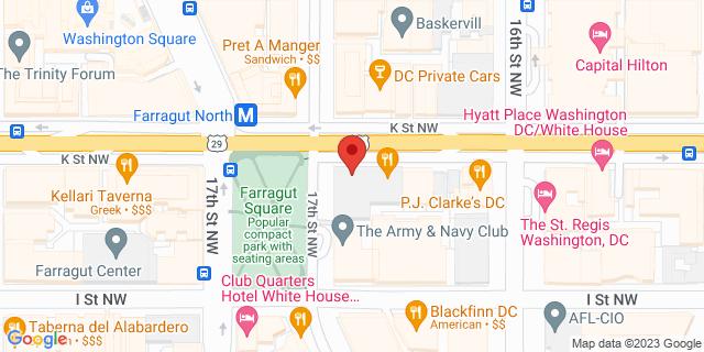 M&T Bank Washington 1680 K St Nw 20006 on Map