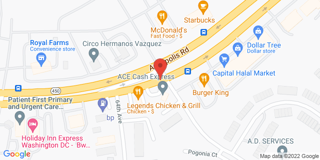 ACE Cash Express Hyattsville 6421 Annapolis Rd 20784 on Map