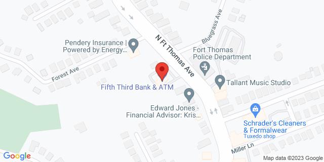 Fifth Third Bank Fort Thomas 131 N FORT THOMAS AV 41075 on Map