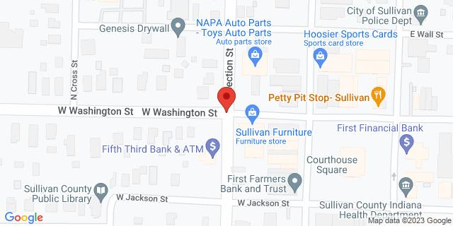 Fifth Third Bank Sullivan 201 W WASHINGTON 47882 on Map