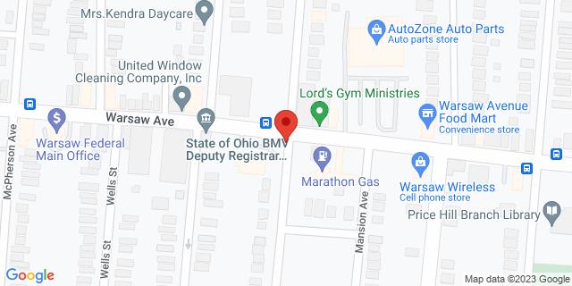 Checksmart Cincinnati 3441 Warsaw Ave 45205 on Map