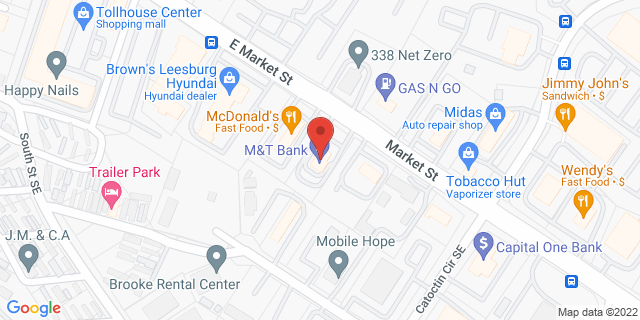 M&T Bank Leesburg 341 E Market St 20176 on Map
