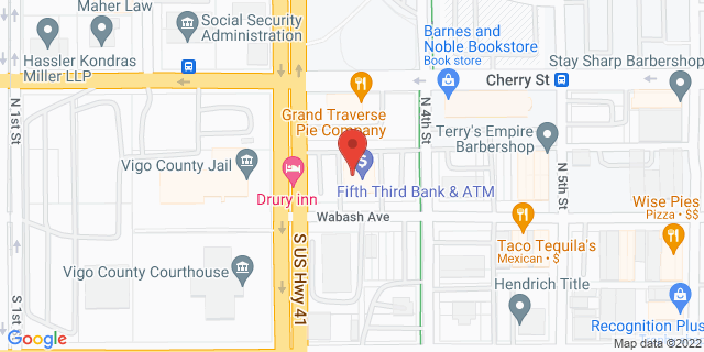 Fifth Third Bank Terre Haute 350 WABASH AVE 47807 on Map