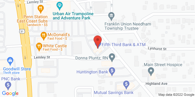 Fifth Third Bank Franklin 1160 N MAIN ST 46131 on Map