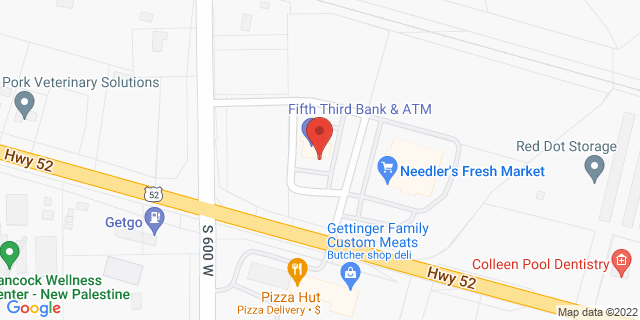 Fifth Third Bank New Palestine 5902 WEST US 52 46163 on Map