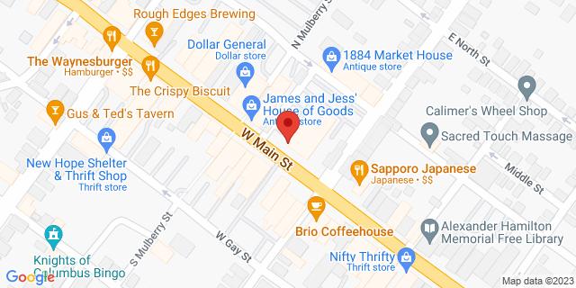 M&T Bank Waynesboro 13 W Main St 17268 on Map