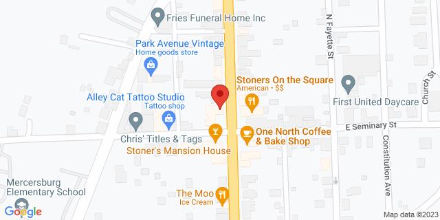 M&T Bank Mercersburg 10 N Main St 17236 on Map