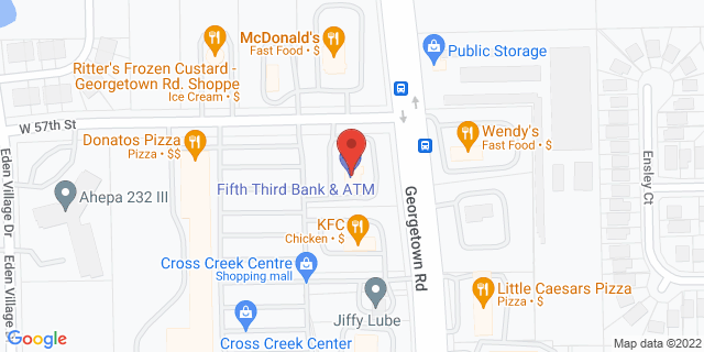 Fifth Third Bank Indianapolis 5692 GEORGETOWN ROAD 46254 on Map