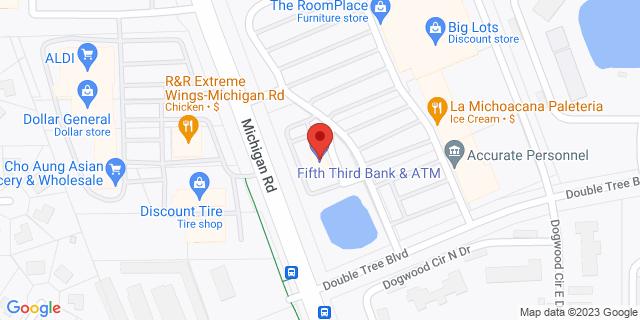 Fifth Third Bank Indianapolis 8301 MICHIGAN ROAD 46268 on Map