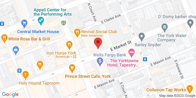 M&T Bank York 21 E Market St 17401 on Map