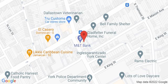 M&T Bank York 800 E Market St 17403 on Map