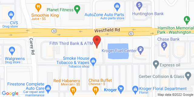 Fifth Third Bank Westfield 3443 EAST STATE ROAD 32 46074 on Map