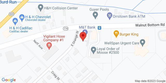 M&T Bank Shippensburg 28 Walnut Bottom Rd 17257 on Map