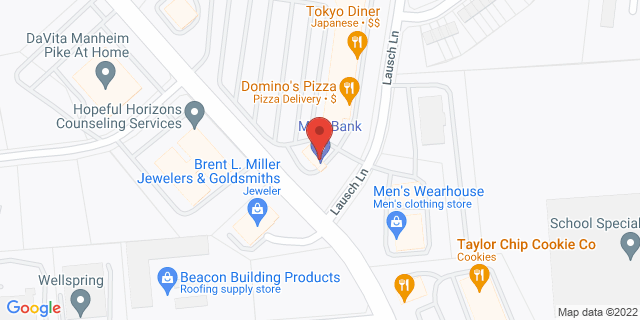 M&T Bank Lancaster 1603 Manheim Pike 17601 on Map