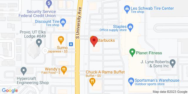 Provo 979 S University Ave, #1 84601 on Map