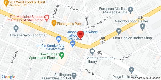 M&T Bank Shillington 1 W Lancaster Ave 19607 on Map