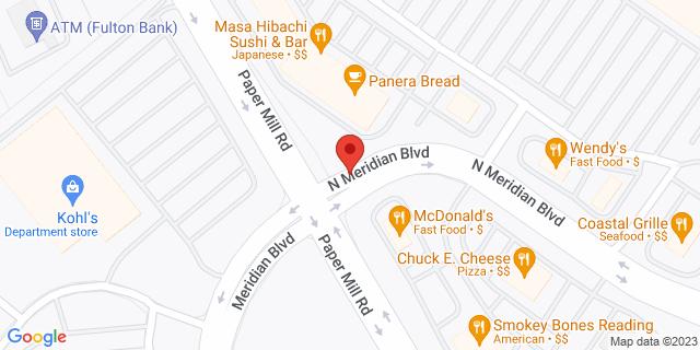M&T Bank Reading 2715 N Meridian Blvd 19610 on Map