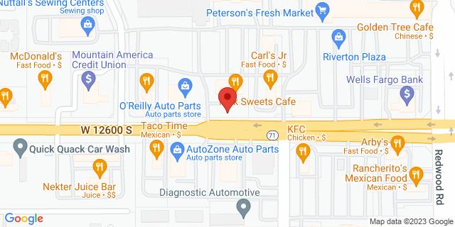 Riverton 1872 W 12600 S 84065 on Map