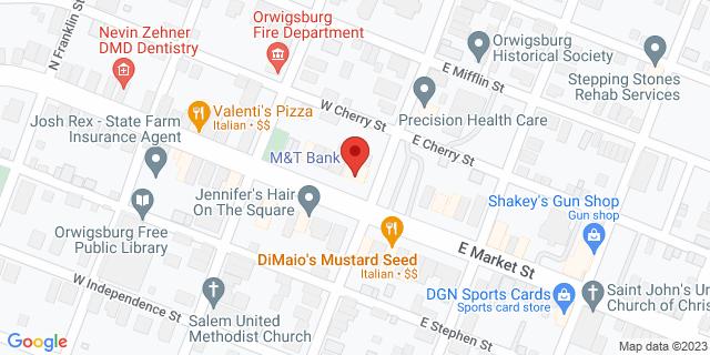 M&T Bank Orwigsburg 100 W Market St 17961 on Map