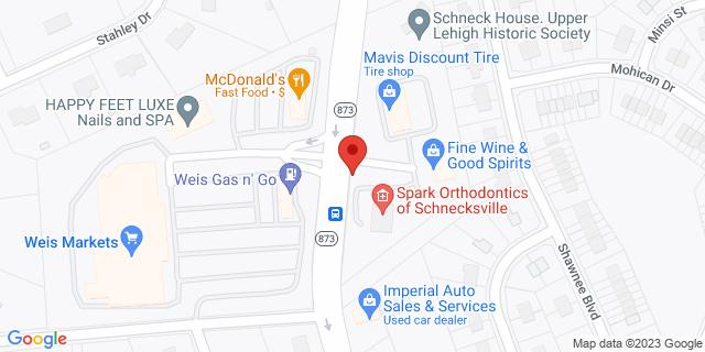 M&T Bank Schnecksville 5021 Route 873 18078 on Map