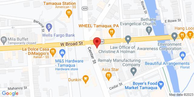M&T Bank Tamaqua 100 E Broad St 18252 on Map