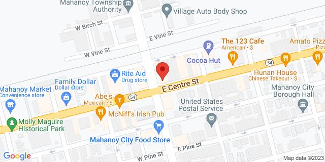 M&T Bank Mahanoy City 1 E Center St 17948 on Map