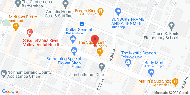 M&T Bank Sunbury 440 Market St 17801 on Map