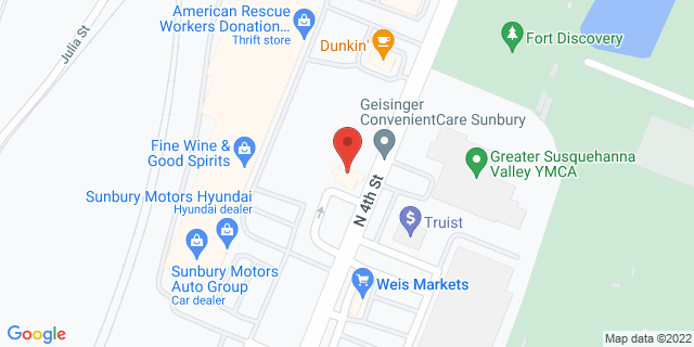 M&T Bank Sunbury 1021 N 4th St 17801 on Map