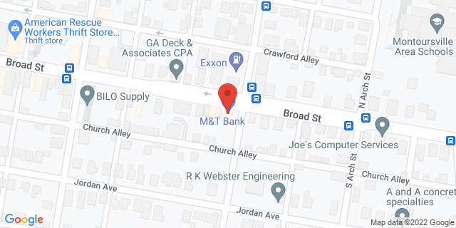 M&T Bank Montoursville 450 Broad St 17754 on Map