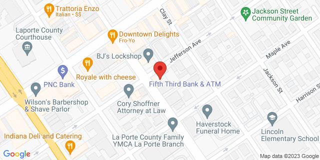 Fifth Third Bank Laporte 801 MONROE STREET 46350 on Map