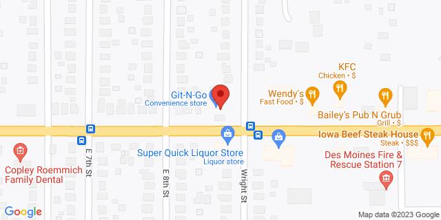 US Bank Des Moines 816 E Euclid Ave 50316 on Map