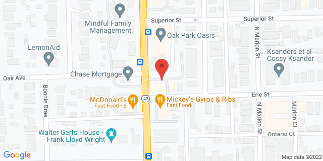 Metro Bank Oak Park 601 N Harlem Ave 60302 on Map