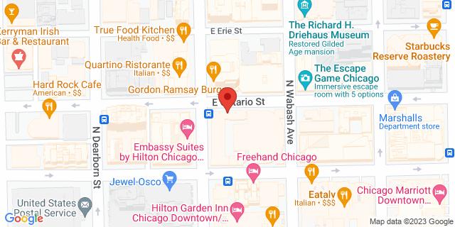 Metro Bank Chicago 9 E Ontario St 60611 on Map