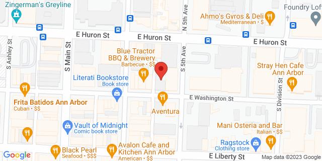 Fifth Third Bank Ann Arbor 217 E WASHINGTON 48104 on Map