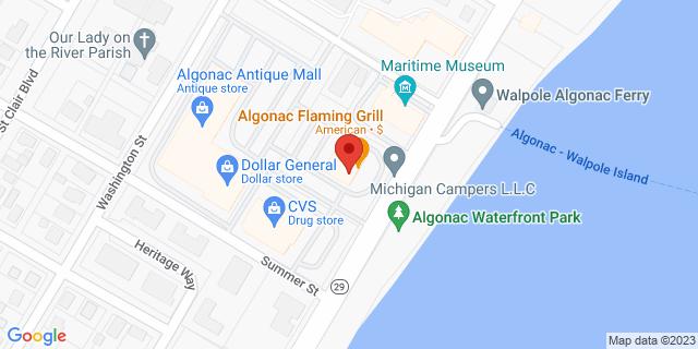 Fifth Third Bank Algonac 1055 ST CLAIR RIVER DRIVE 48001 on Map