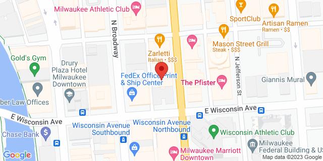Milwaukee 723 N Milwaukee St 53202 on Map