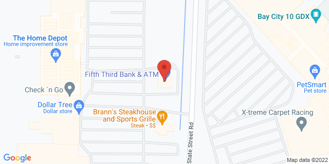 Fifth Third Bank Bay City 3870 STATE STREET ROAD 48706 on Map