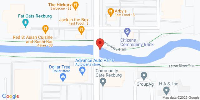 Community Bank Rexburg 452 N 2nd E 83440 on Map