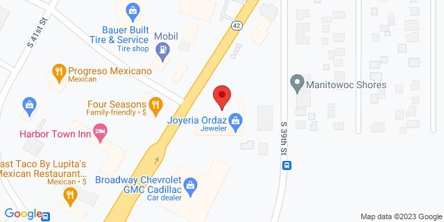 Manitowoc 3949 Calumet Ave 54220 on Map