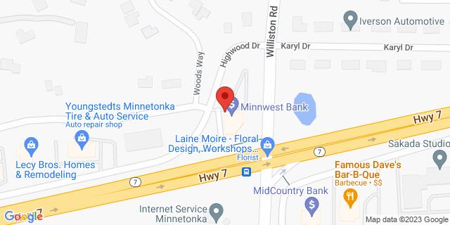 Metro Bank Minnetonka 14820 Highway 7, #100 55345 on Map