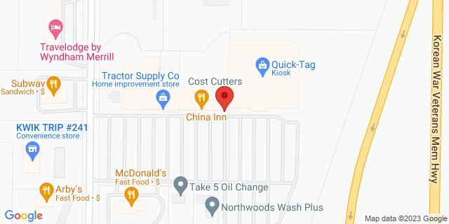 Merrill 3438 E Main St 54452 on Map